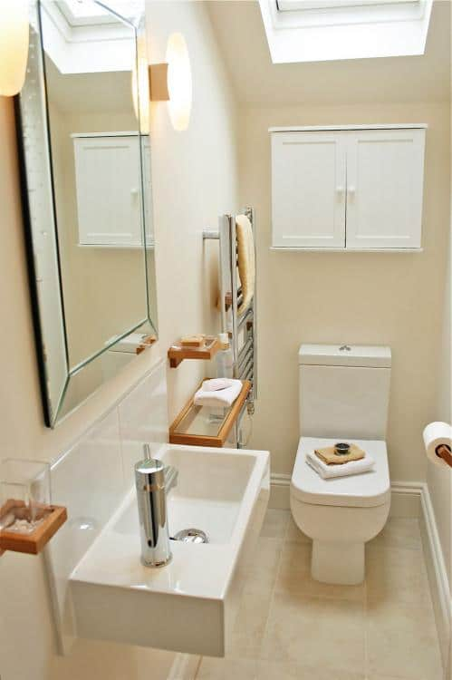 luxury downstairs toilet