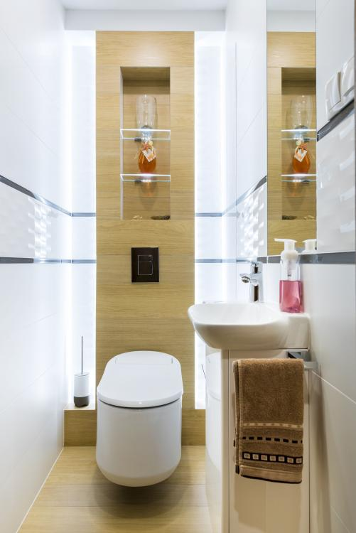 modern downstairs toilet