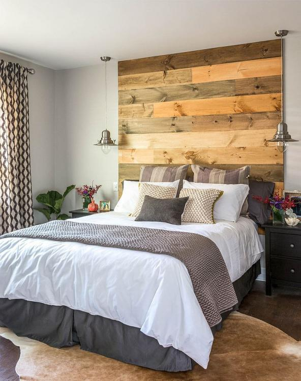 modern wood headboard ideas