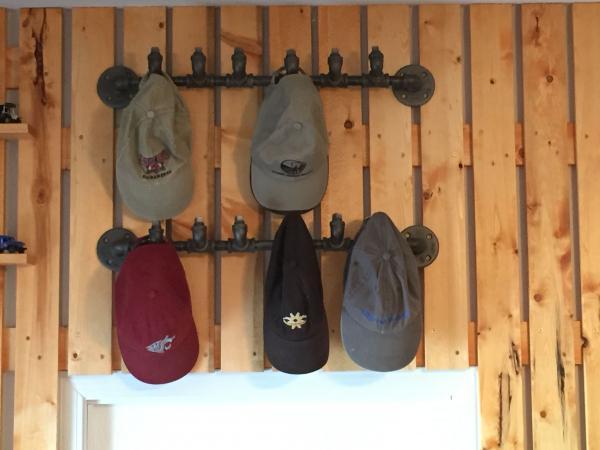 pipe hat rack