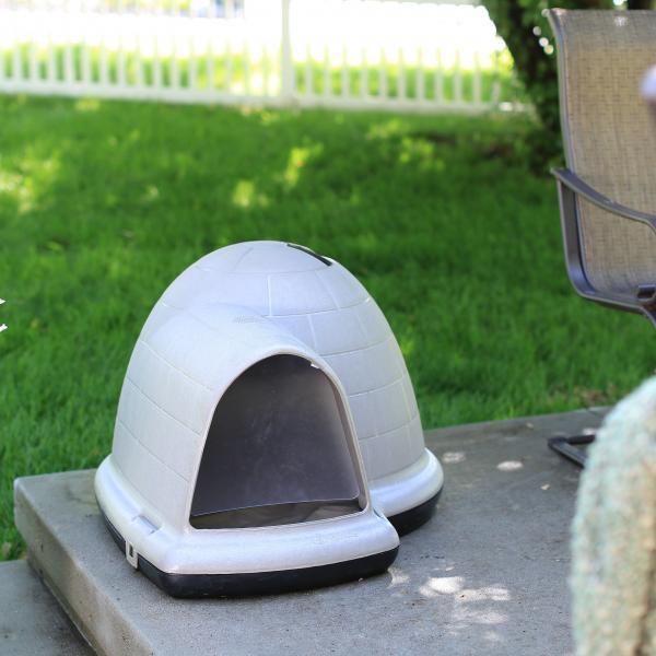 plastic dome dog house