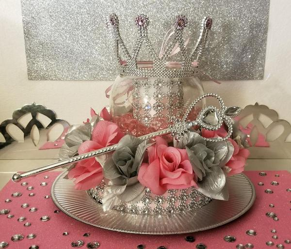 princess baby shower centerpieces