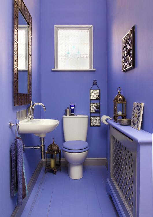 purple downstairs toilet