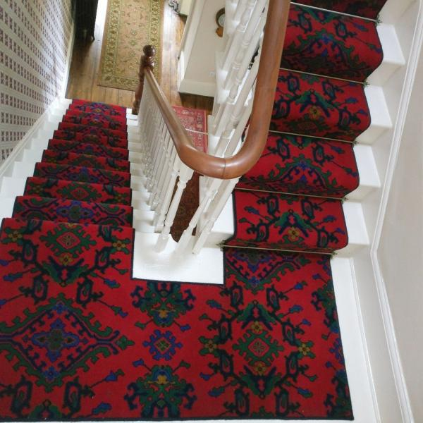 red stair runner carpet
