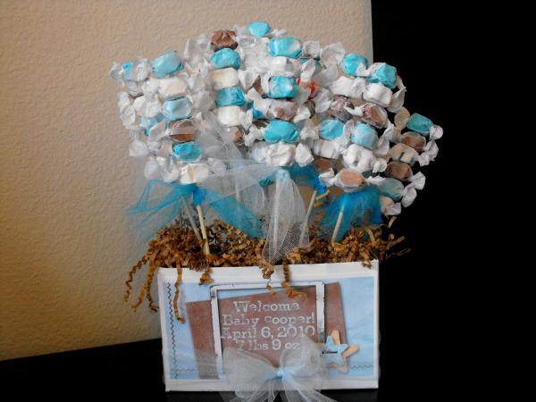 simple boy baby shower centerpieces