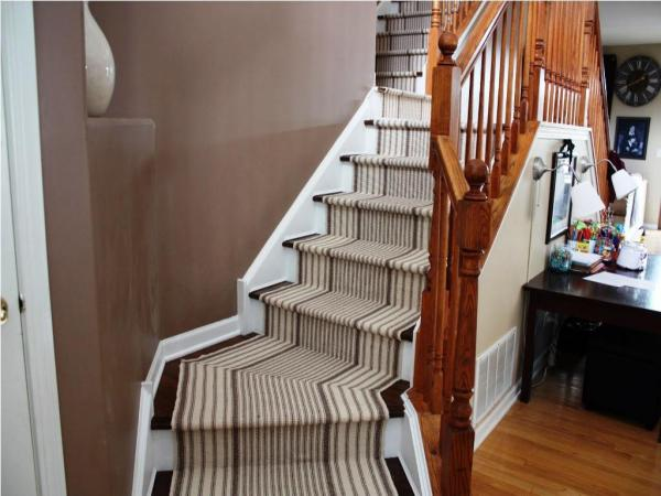 stair runner and landing carpet