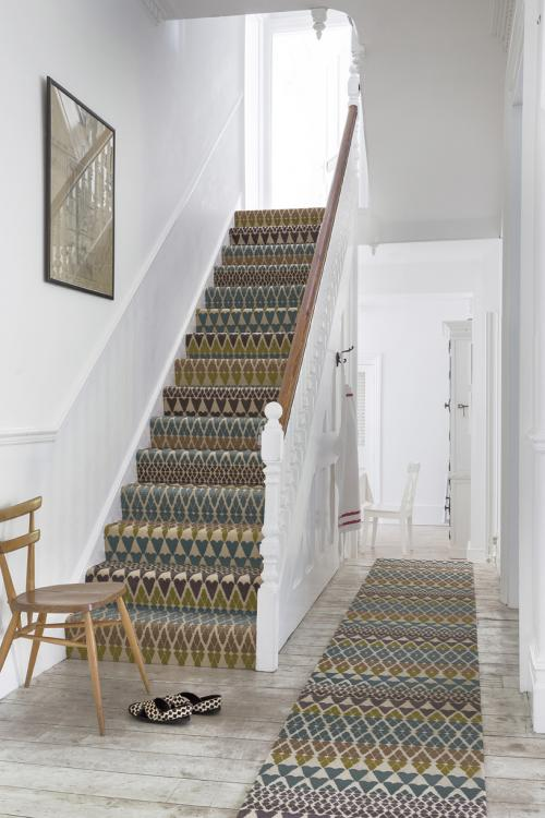 stair runner and matching landing carpet