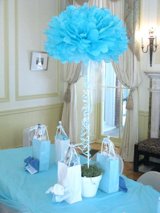 tall baby shower centerpieces
