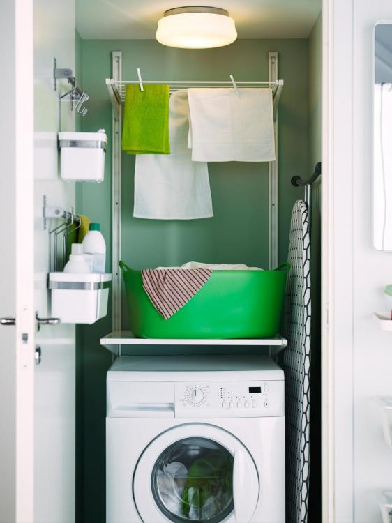 tiny laundry room storage ideas