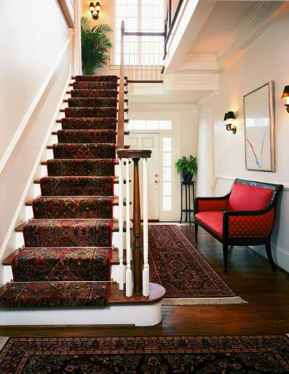 traditional stair carpet
