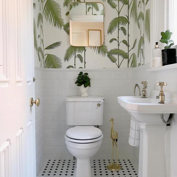 tropical scheme downstairs toilet