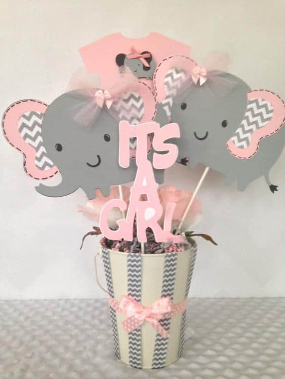 unusual baby shower centerpieces