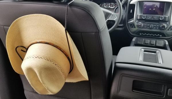 vehicle hat rack