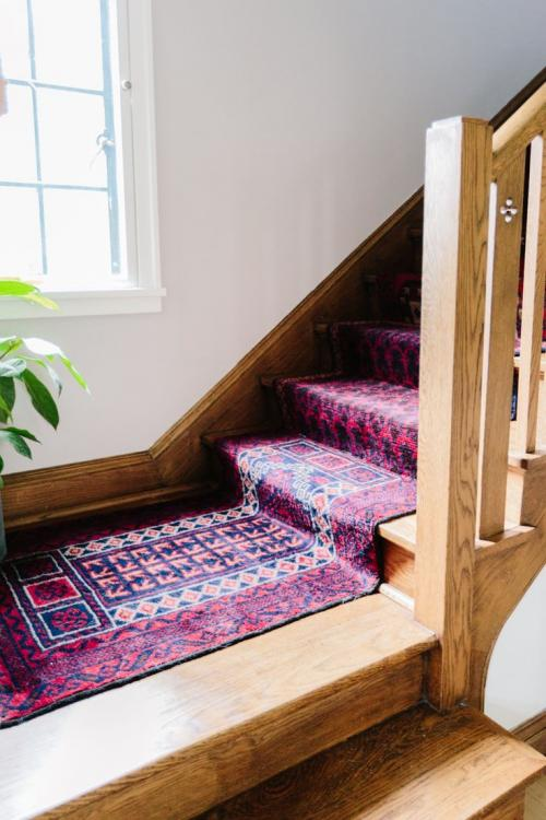 vintage stair carpet