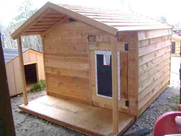 wooden dog house large