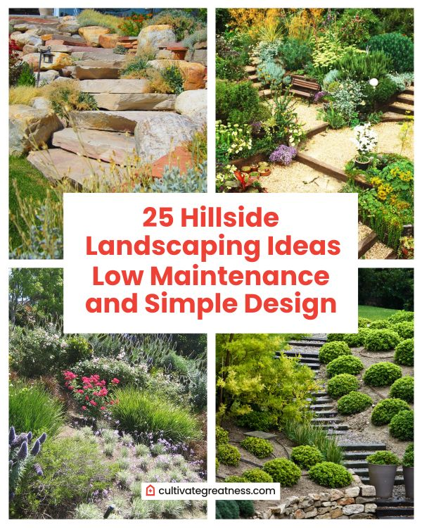 Hillside Landscaping Ideas with Low Maintenance and Easy Design