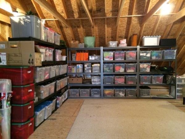 diy garage storage loft plans