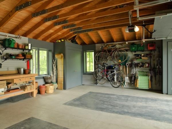 garage loft storage boards