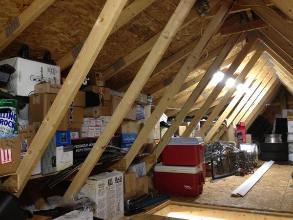garage storage loft diy