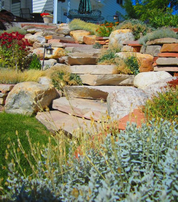 hillside front yard landscaping ideas
