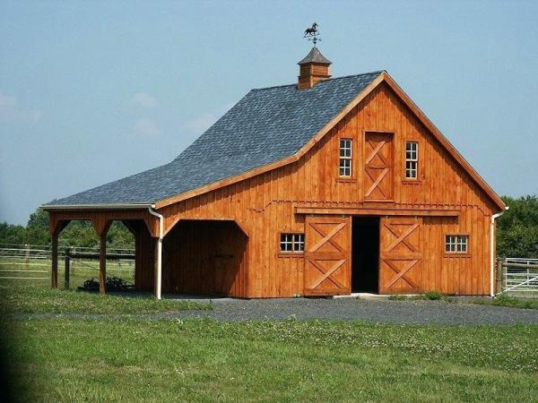 horse pole barn horse barn stable with lean