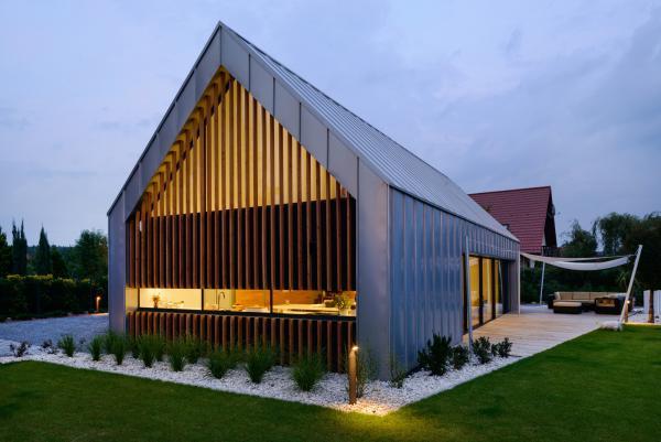 modern barndominium house