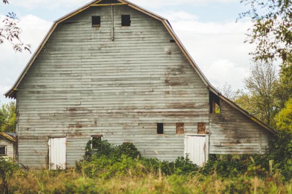 rustic barndominium
