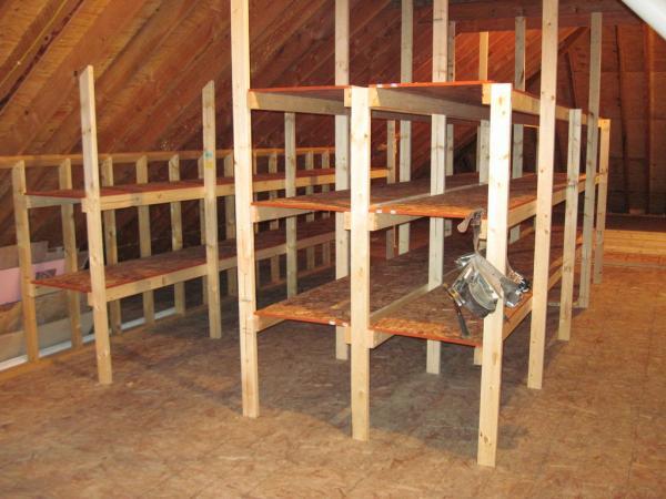 suspended garage storage loft