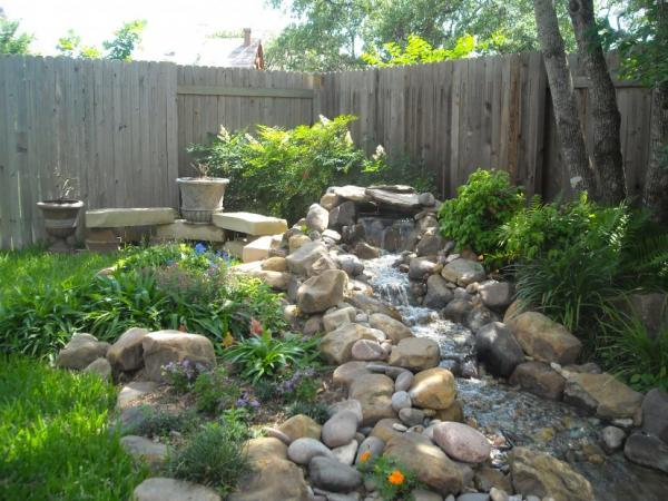 water features hillside landscaping ideas