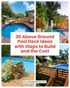 Above Ground Pool Deck Ideas with Steps to Build and The Cost