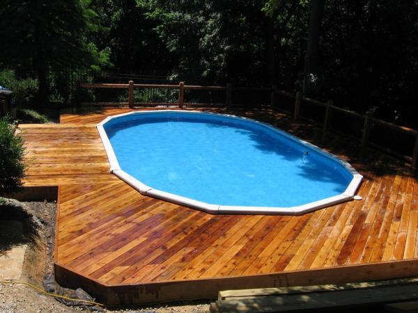 above ground pool deck colors