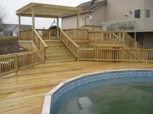 above ground pool deck layout