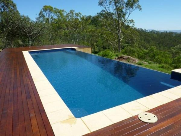 above ground pool with nice deck
