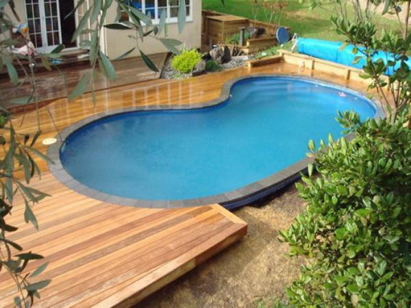 above ground pools pool wood deck