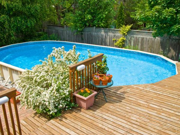 deck up to above ground pool