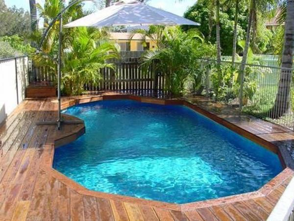 small above ground pool deck