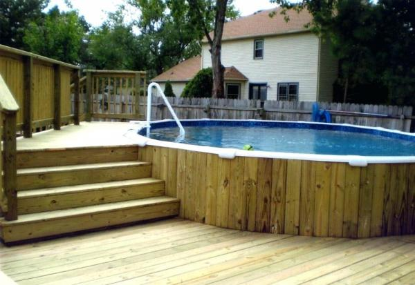 step up deck to above ground pool