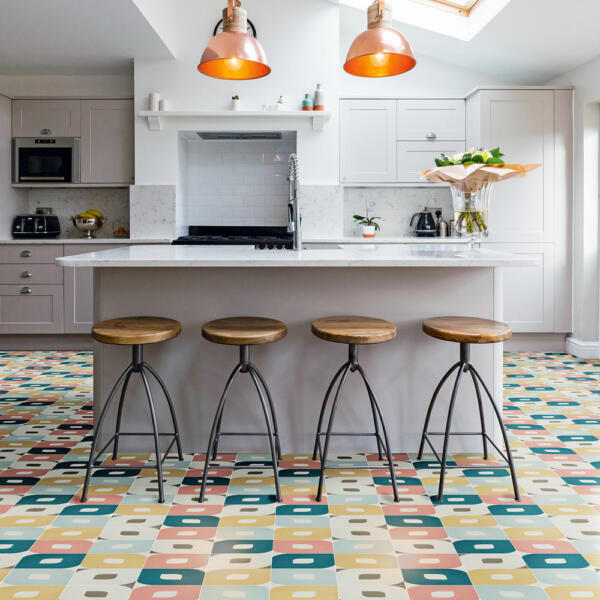 artsy kitchen tile pattern ideas