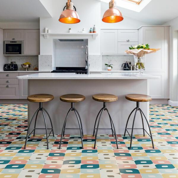 artsy kitchen tile pattern ideas