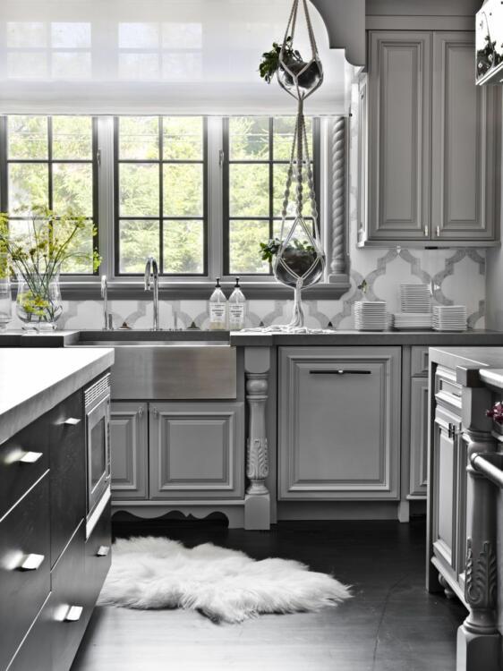 black tiles for kitchen floor ideas