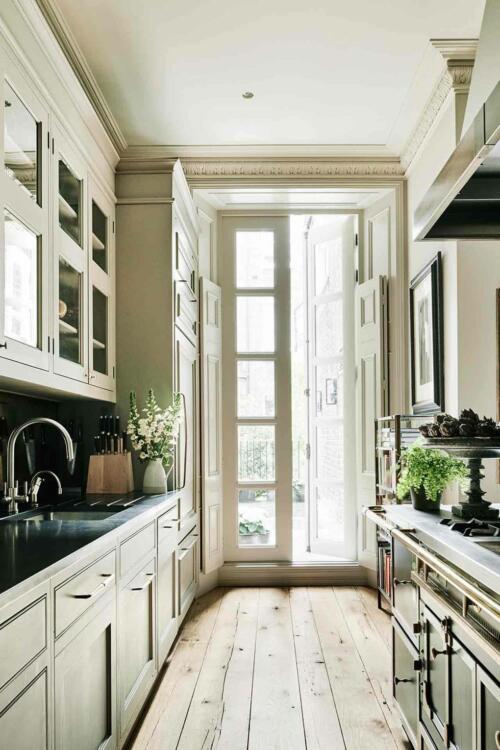inexpensive natural wood kitchen floor ideas