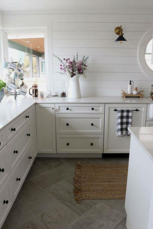 kitchen floor tile gray