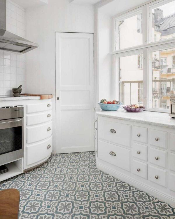 kitchen tiles patterned floor