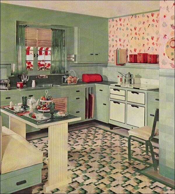 retro kitchen floor ideas