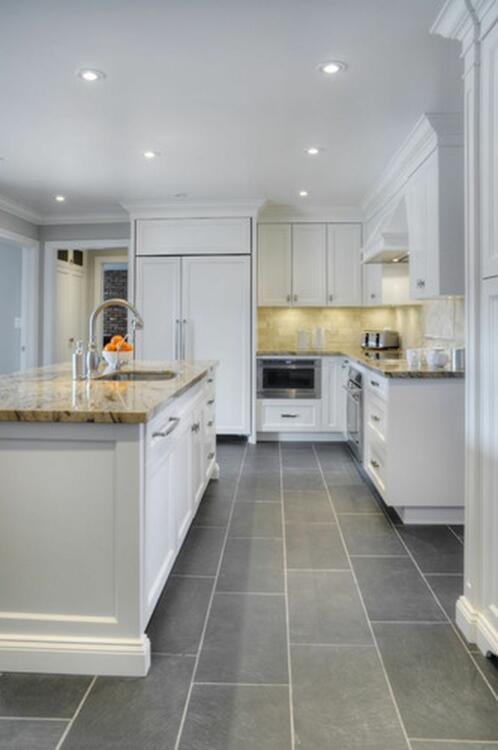 simple ceramic tile for kitchen floor ideas