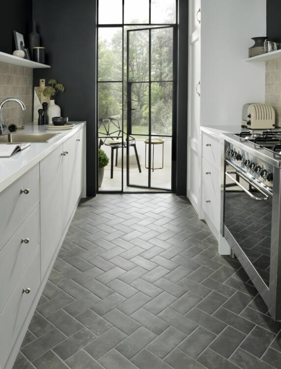 subway tile kitchen floor ideas