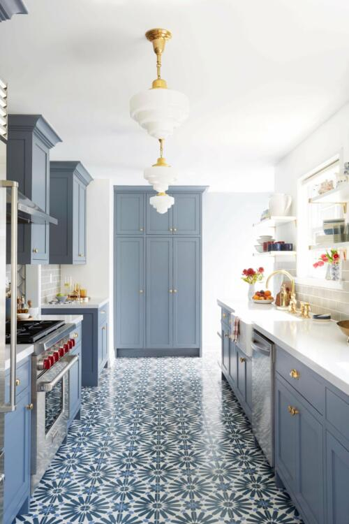 sunflower pattern kitchen floor ideas tile