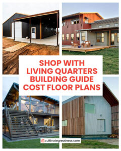Shop with Living Quarters Building Guide Cost and Floor Plans