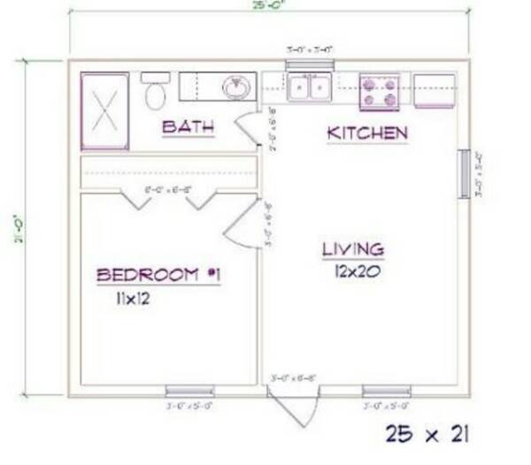 Barndominium with Bedroom and Bathroom