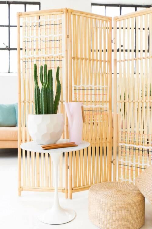 bamboo accordion room divider